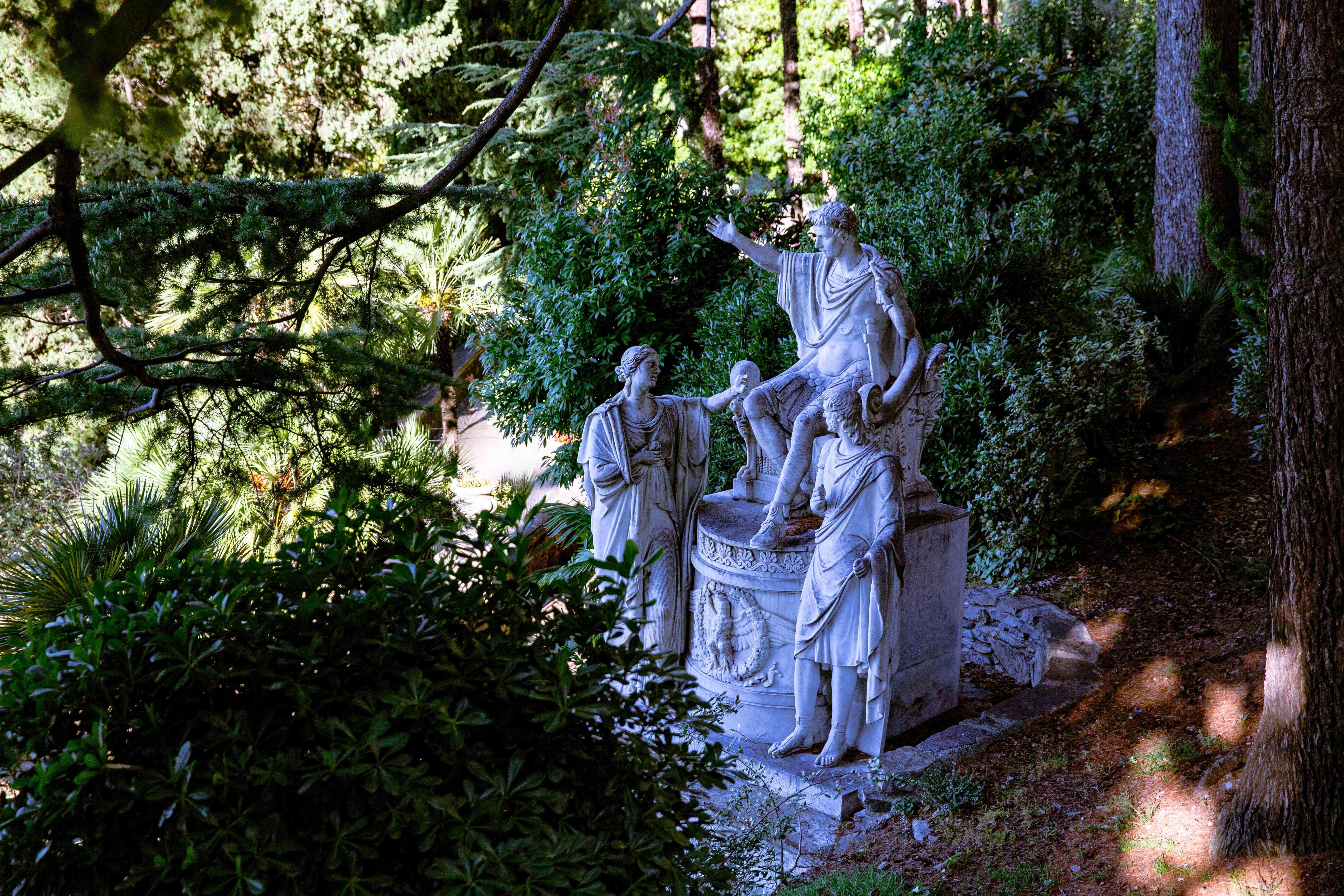Gardens of Villa Monastero in Varenna, Italy