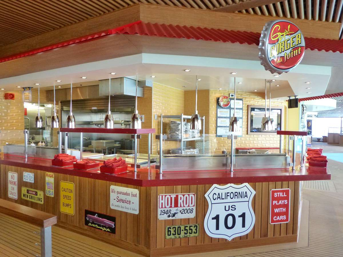 Carnival Breeze Dining Venues - Guy's Burger Joint