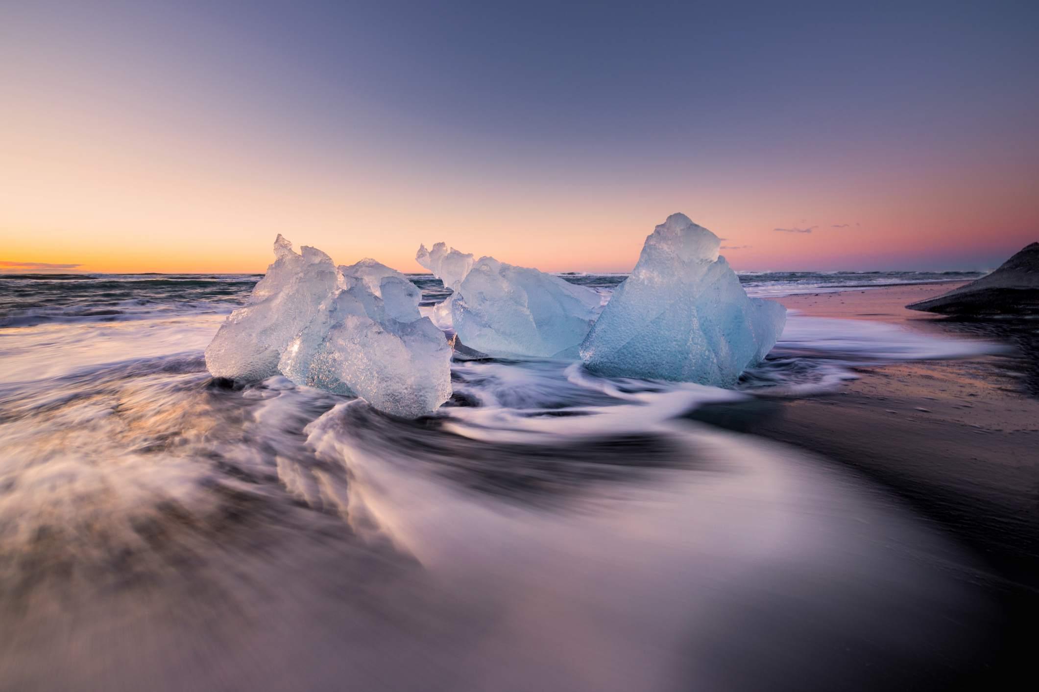 Sunset at Diamond Beach