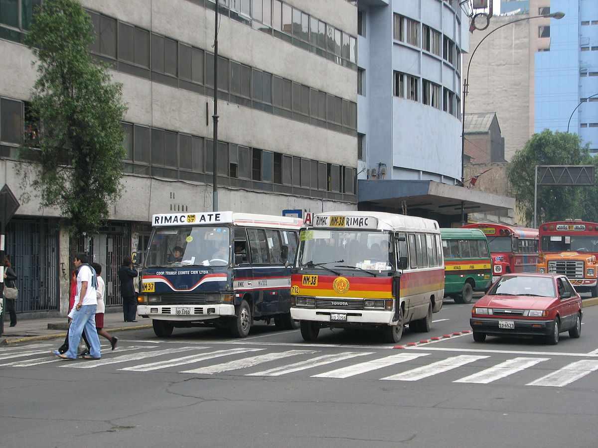 Minibusses in Lima, Peru