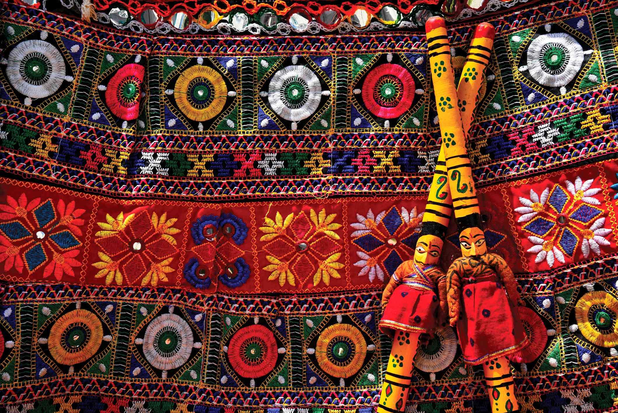 Navratri, traditional dance festival background