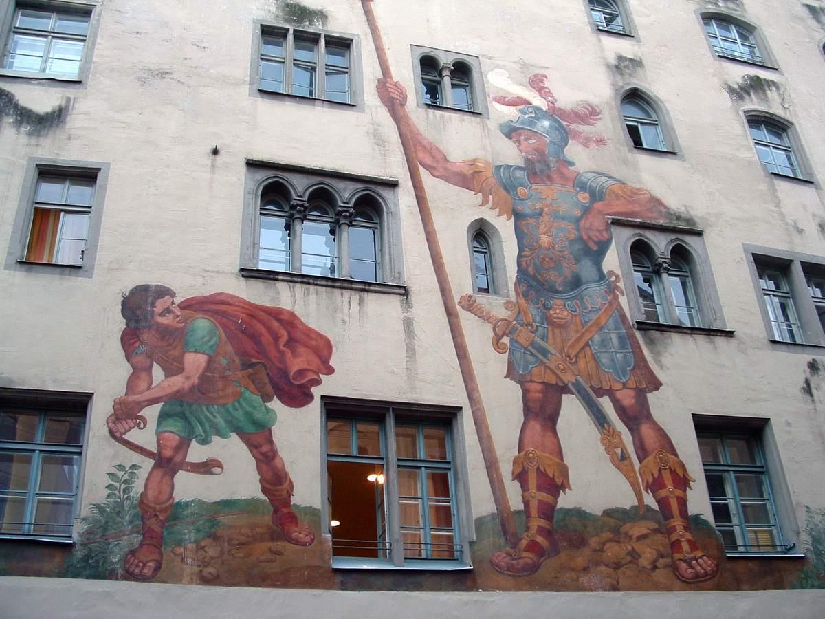Regensburg David and Goliath Mural