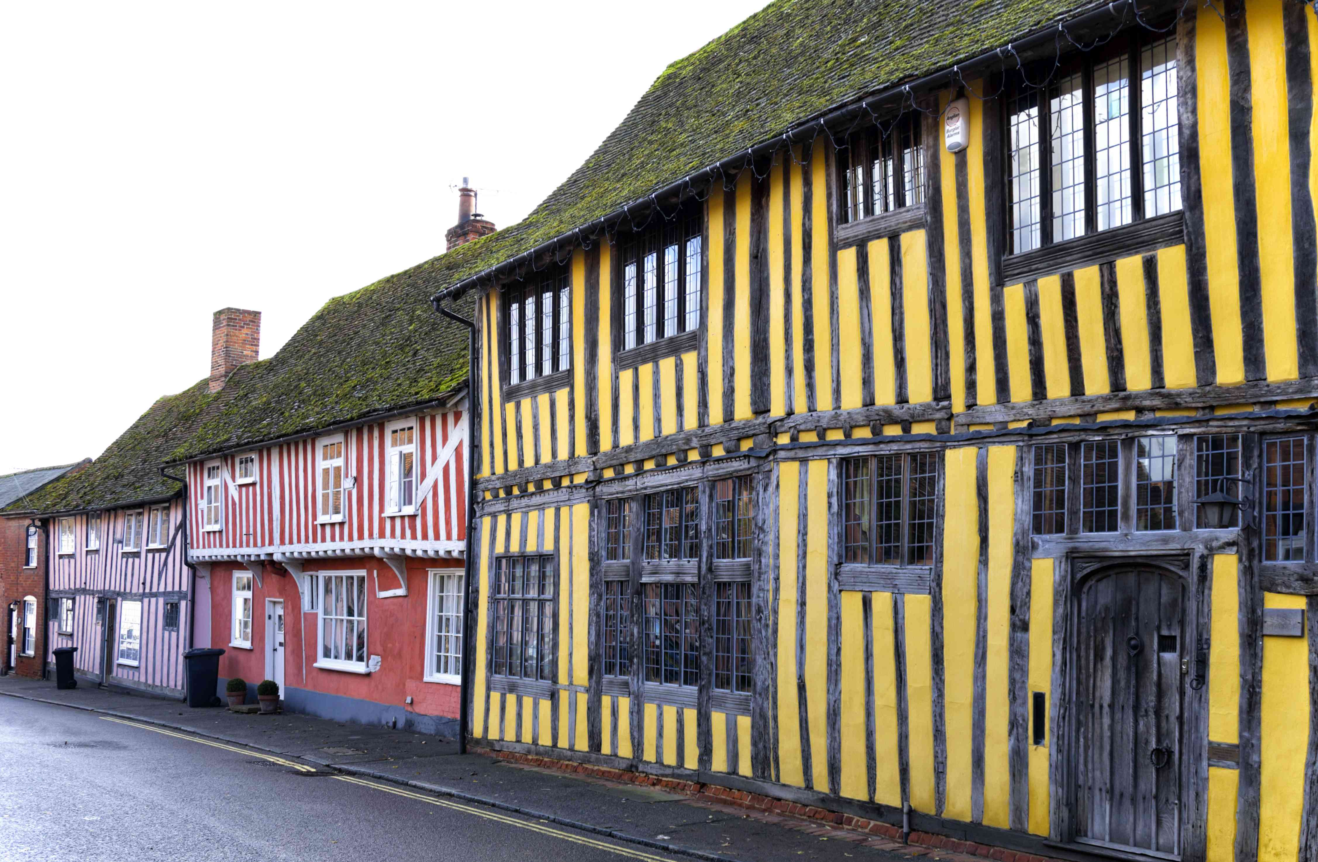 Colourful old houses in Lavenham