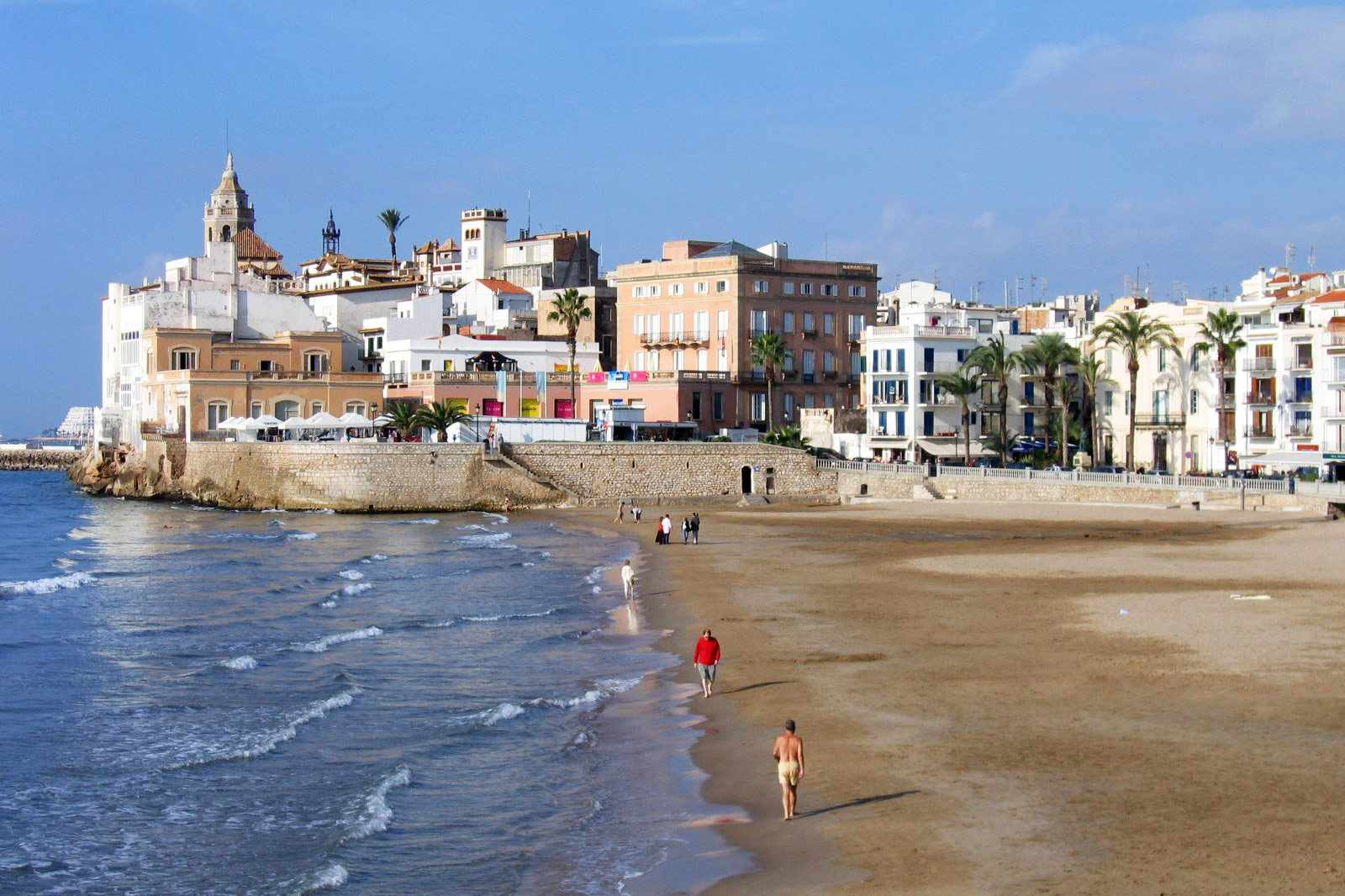 Sitges Beach, Spanien