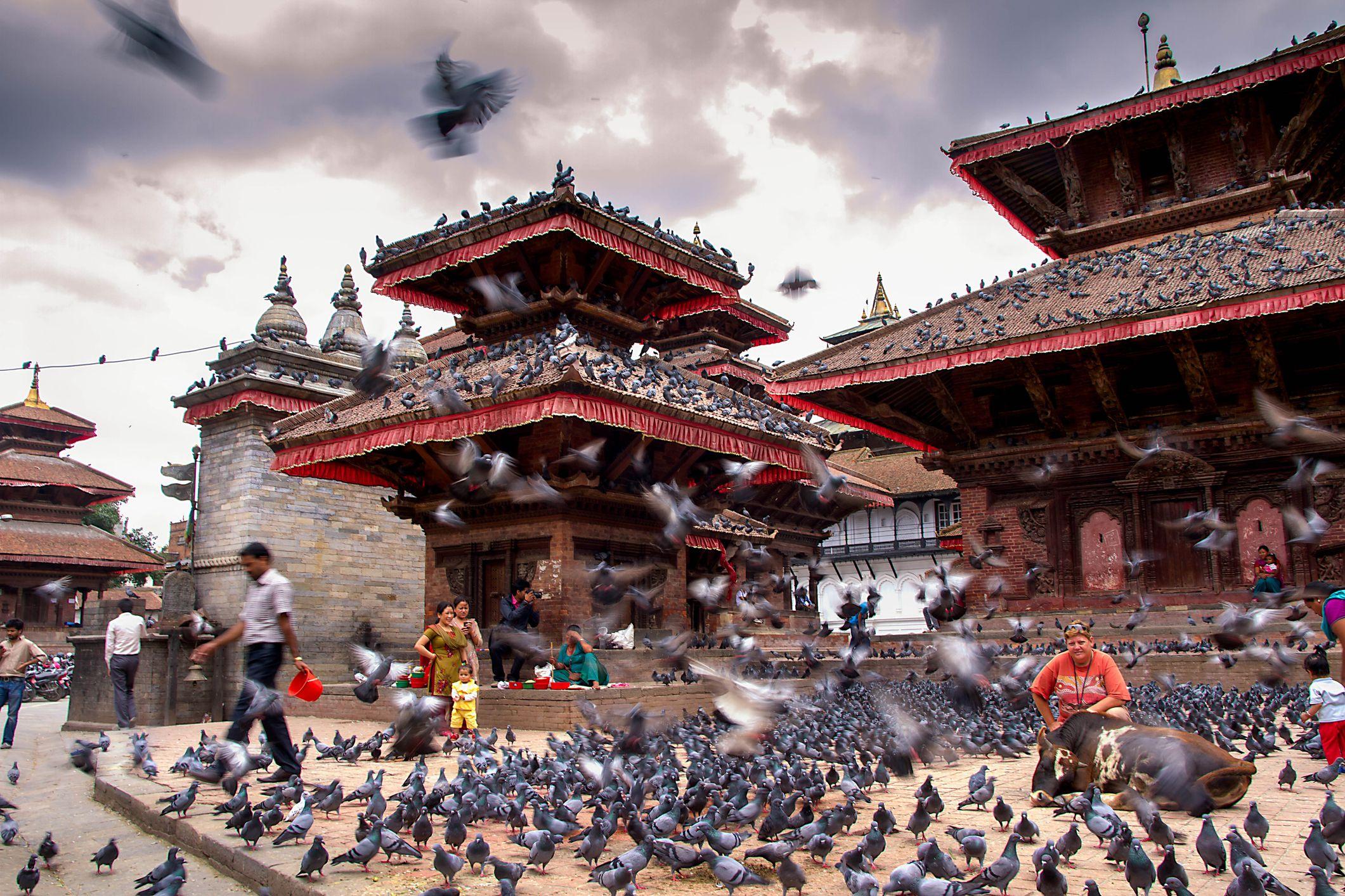 Kathmandu's Durbar Square.