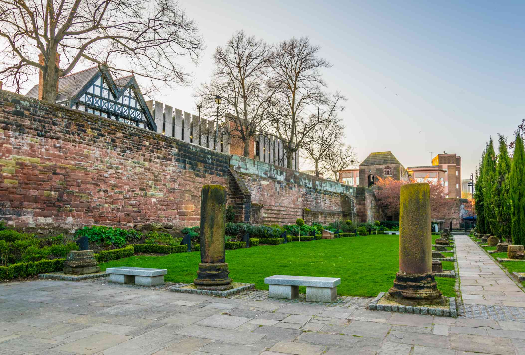 View of roman ruins in Chester, England