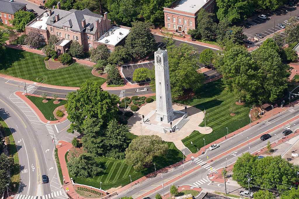 Memorial Belltower Aerial View
