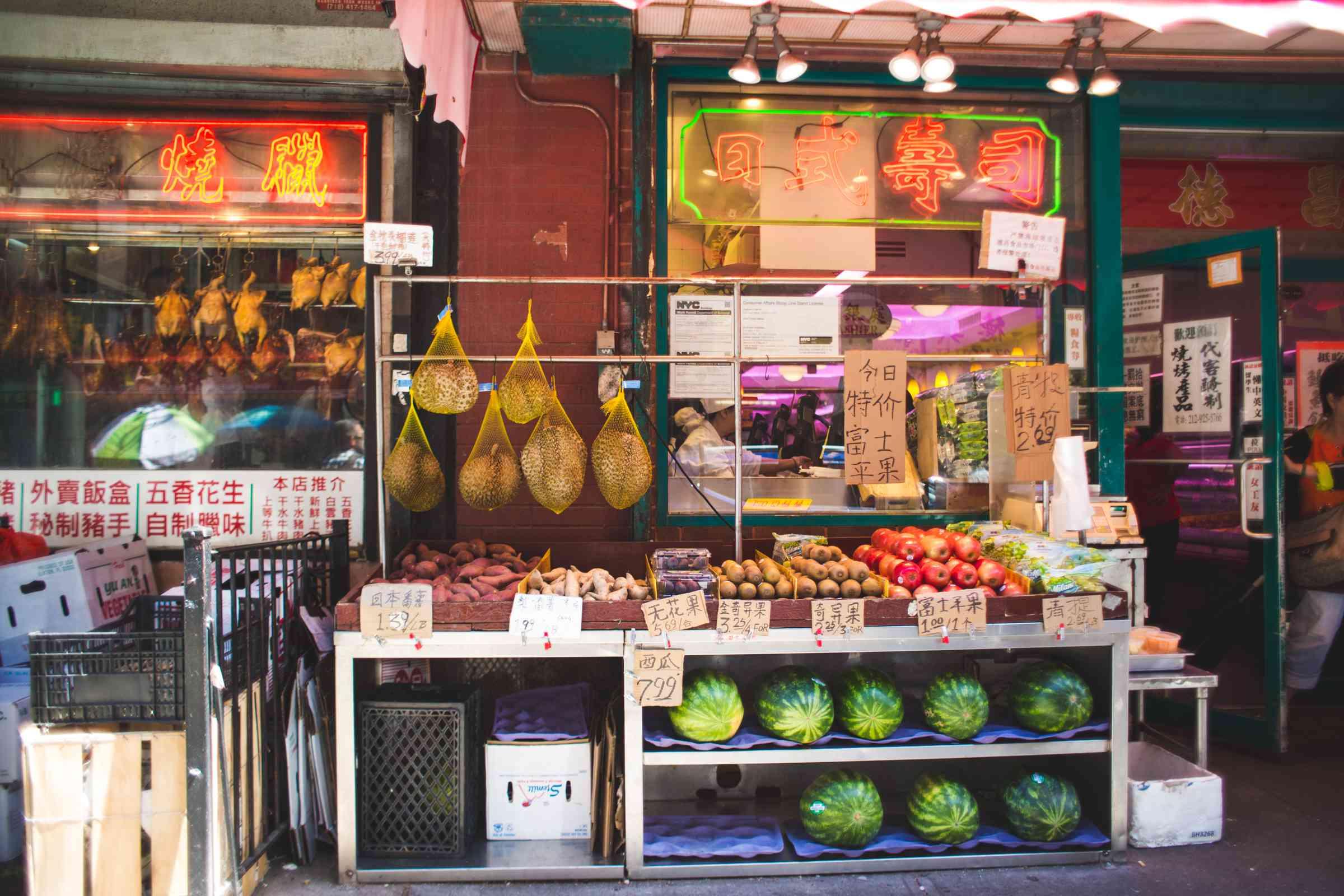 Manhattan's Chinatown in New York