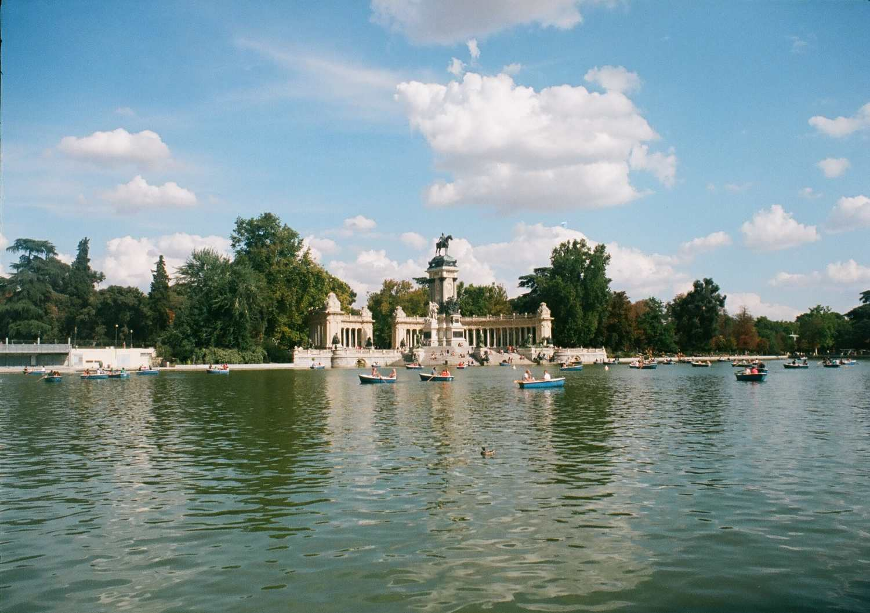 Retiro Park lake, Madrid, Spain