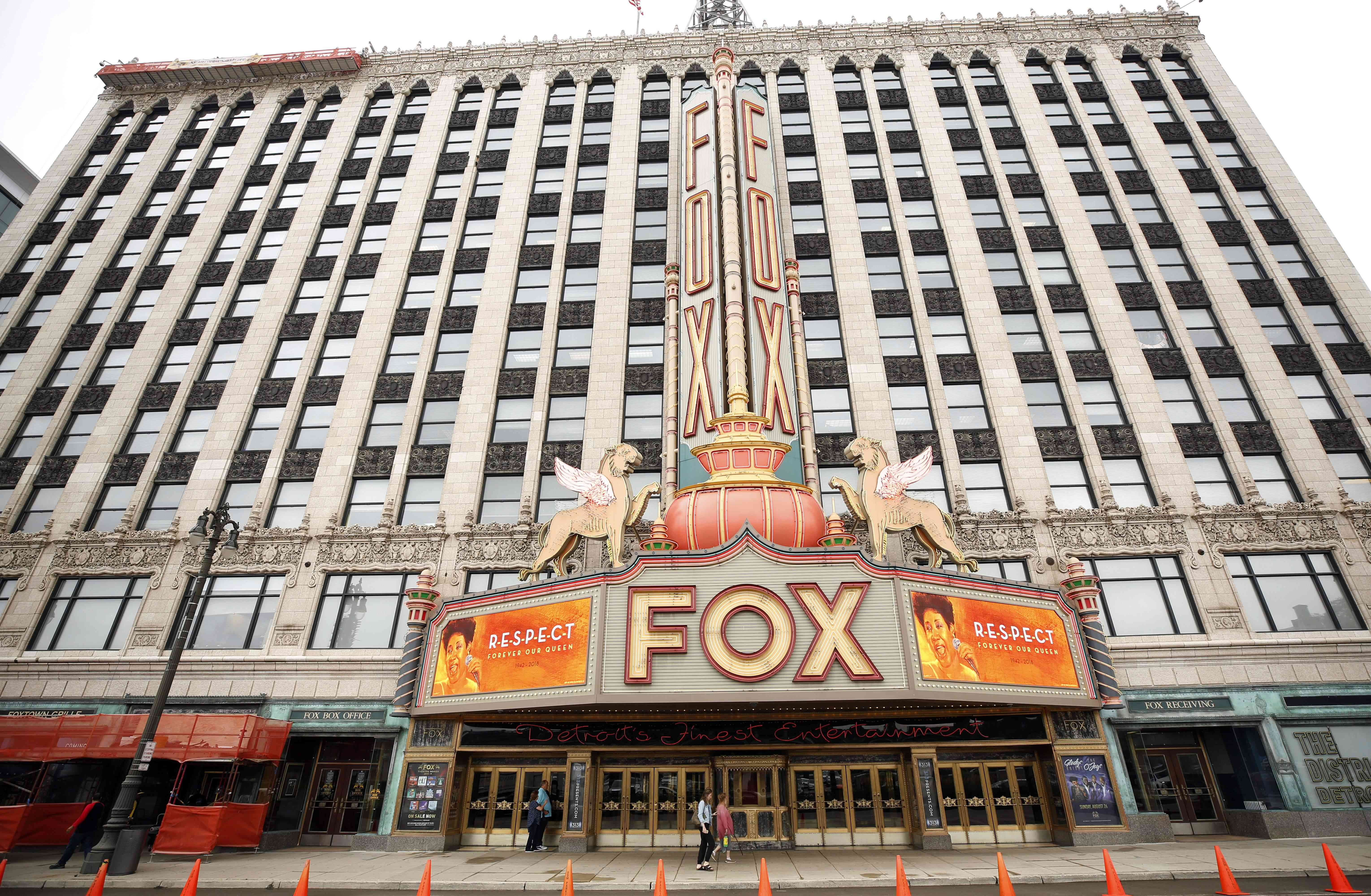 The marquee on the Fox Theatre