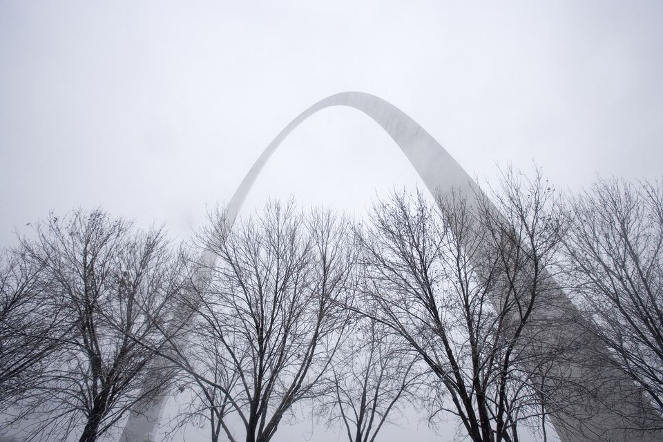 Gateway Arch en Winter Storm