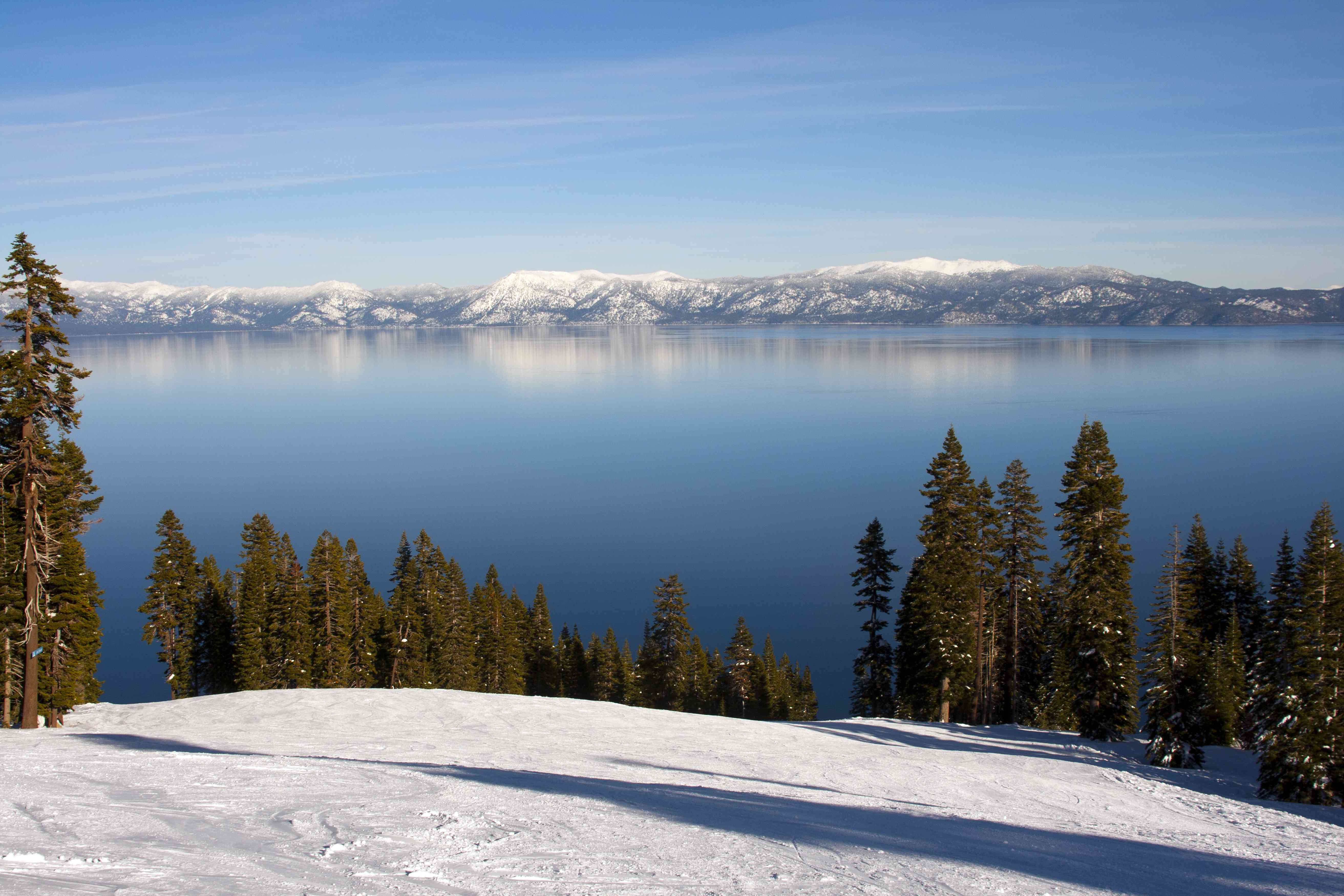 View of Lake Tahoe from the top of Homewood Mountain