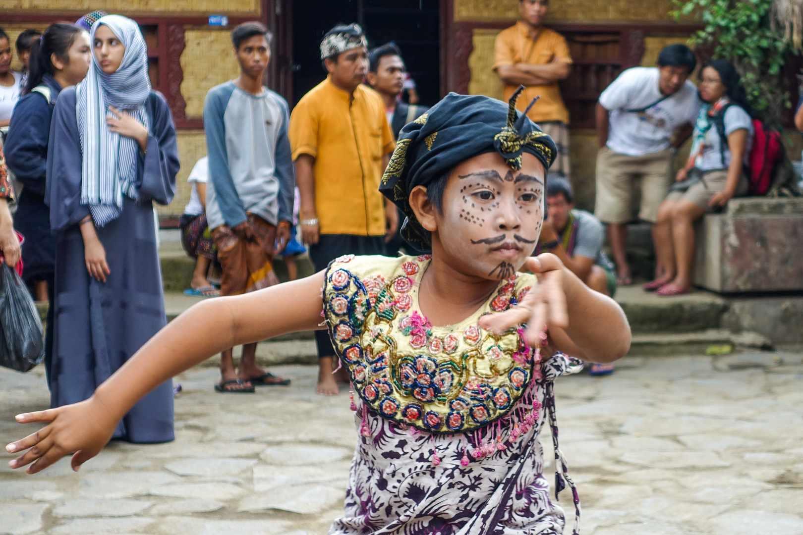 Child dancer, Sasak Sade Village, Lombok