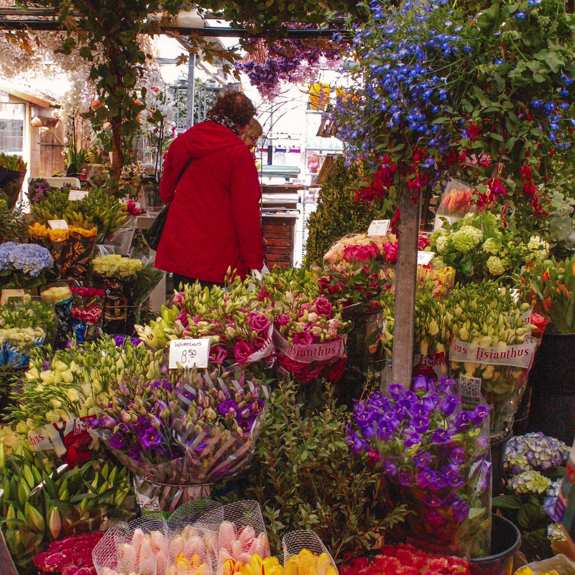 The flower market in Amsterdam