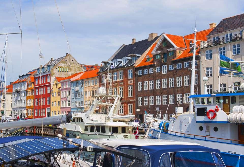 Edificios coloridos famosos en Dinamarca