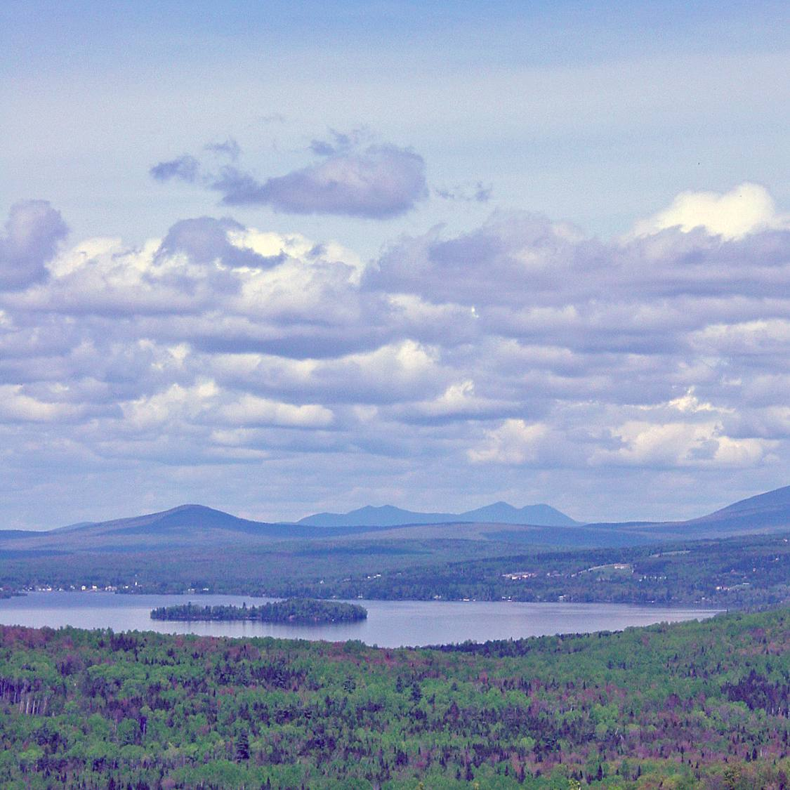 Toothaker Island as Viewed from Height of Land Maine