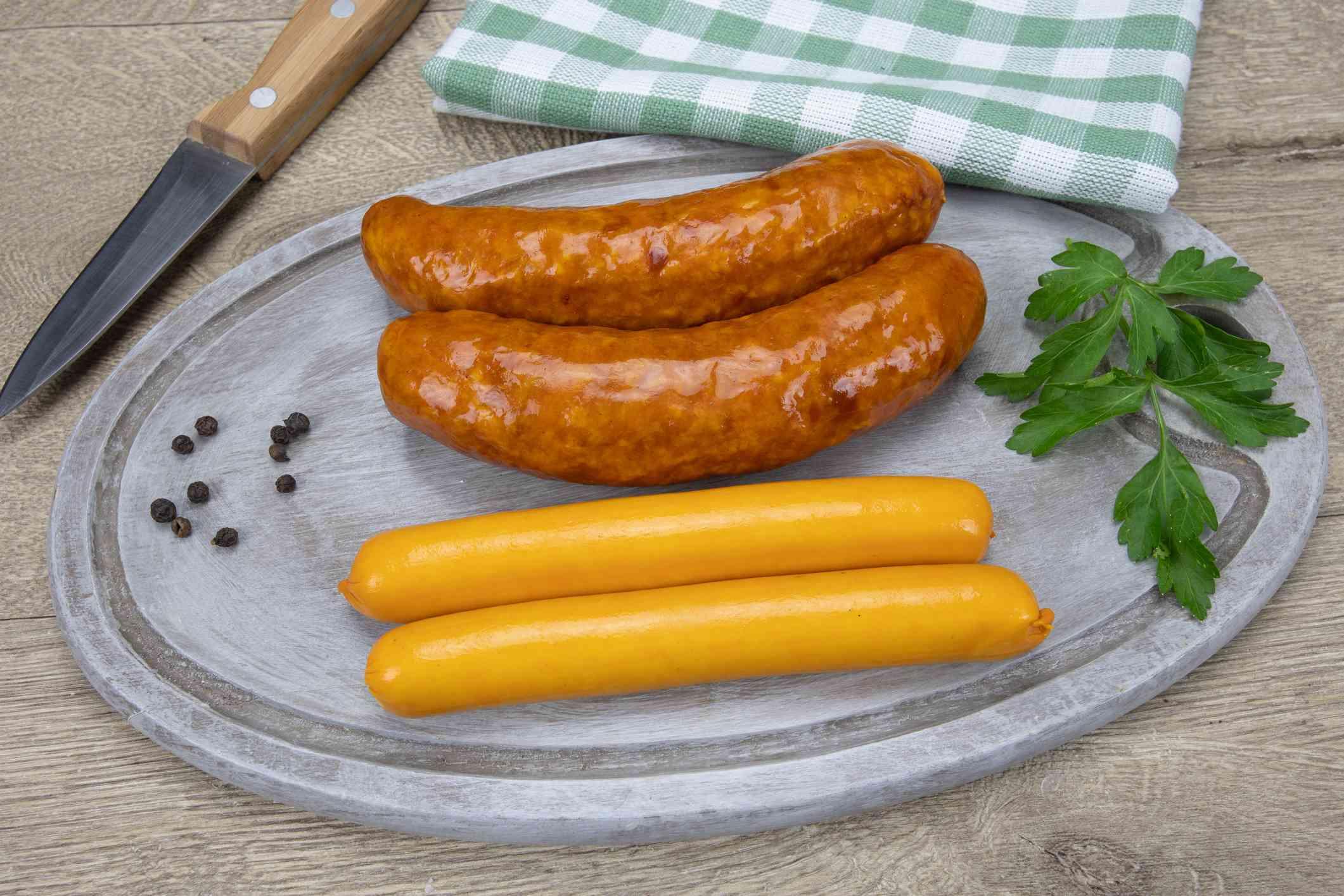 Alsatian-style sausages