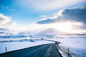 Winter Road at iceland