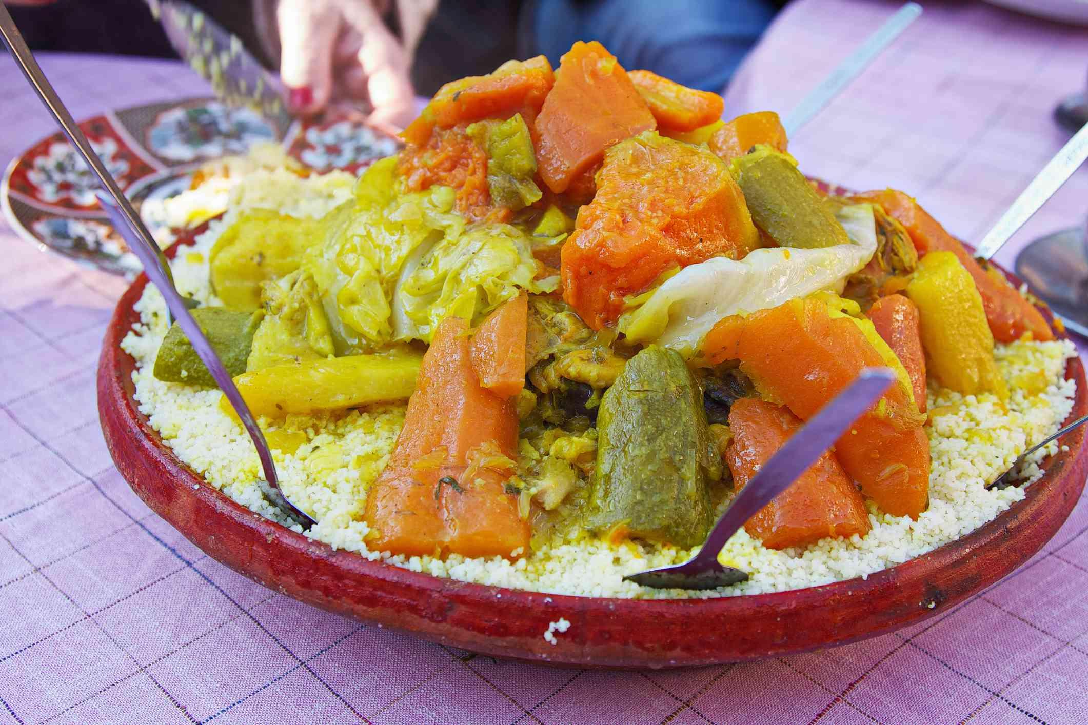 Traditional Moroccan tagine