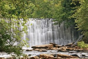Waterfall at Vickery Creek Mill Dam Georgia