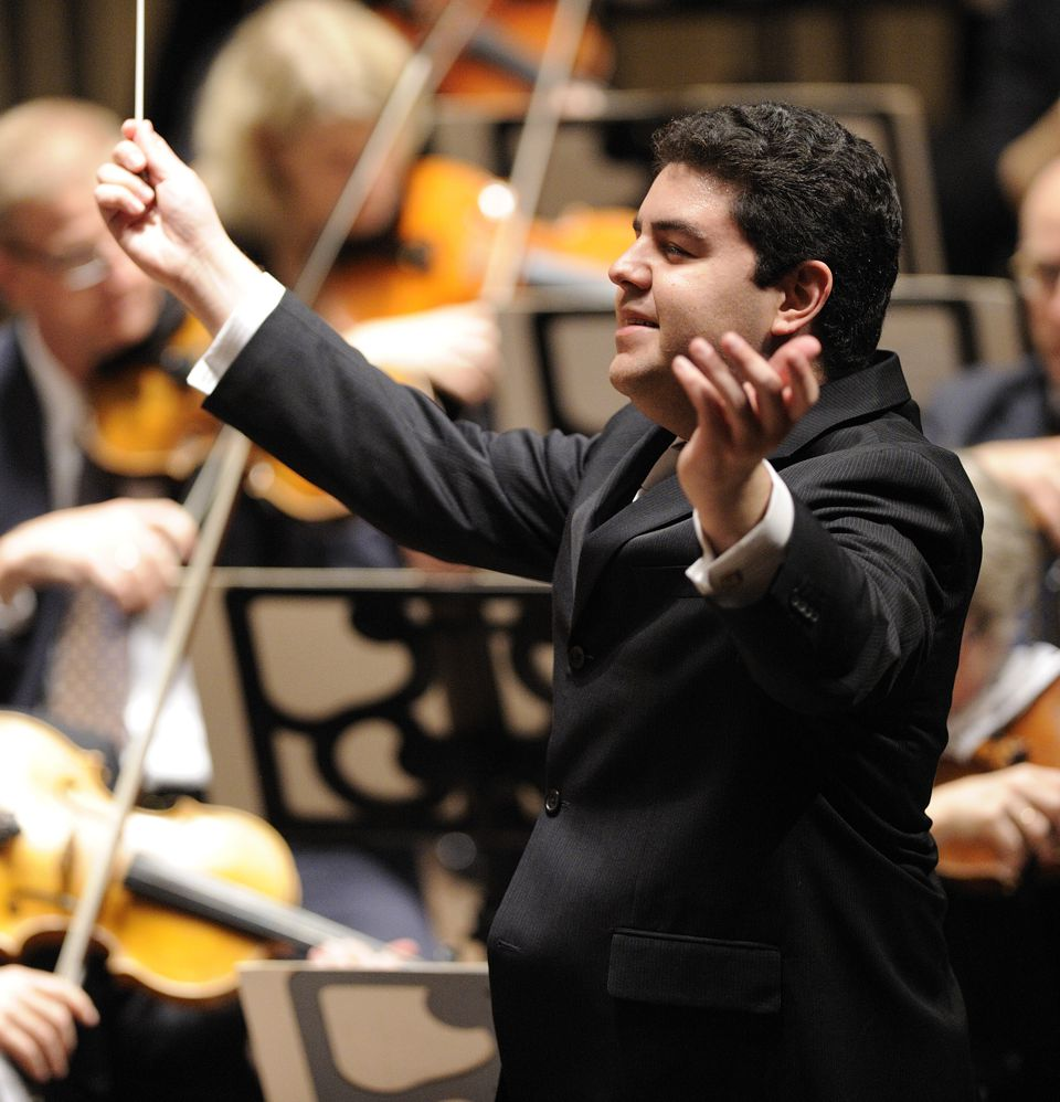 Man conducting orchastra