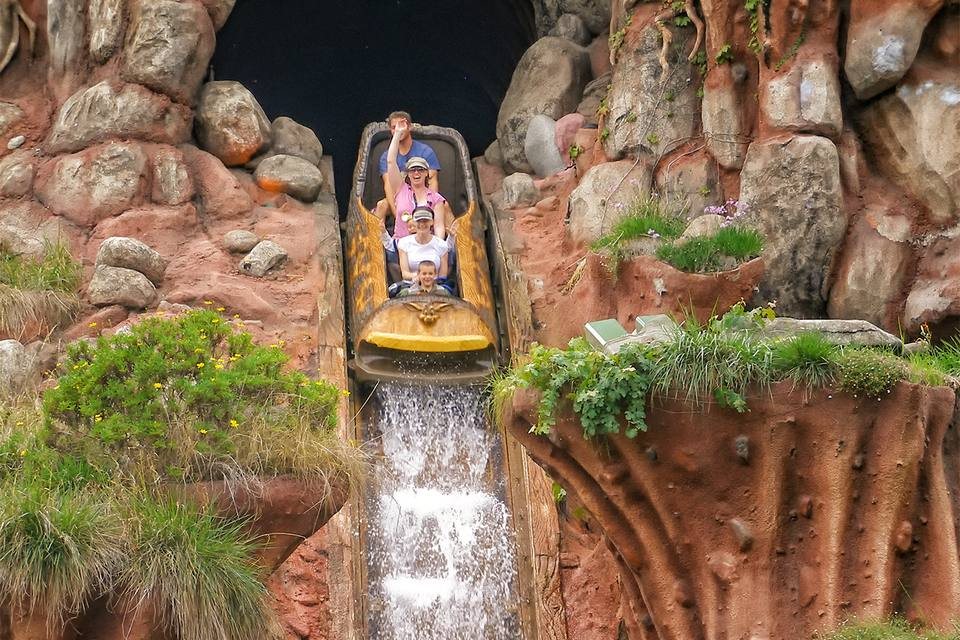 Going Down at Splash Mountain