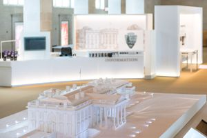 Model of the white house in the White House Visitor Center