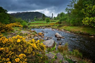 Glendalough Monastic Site in Wicklow Mountains National Park