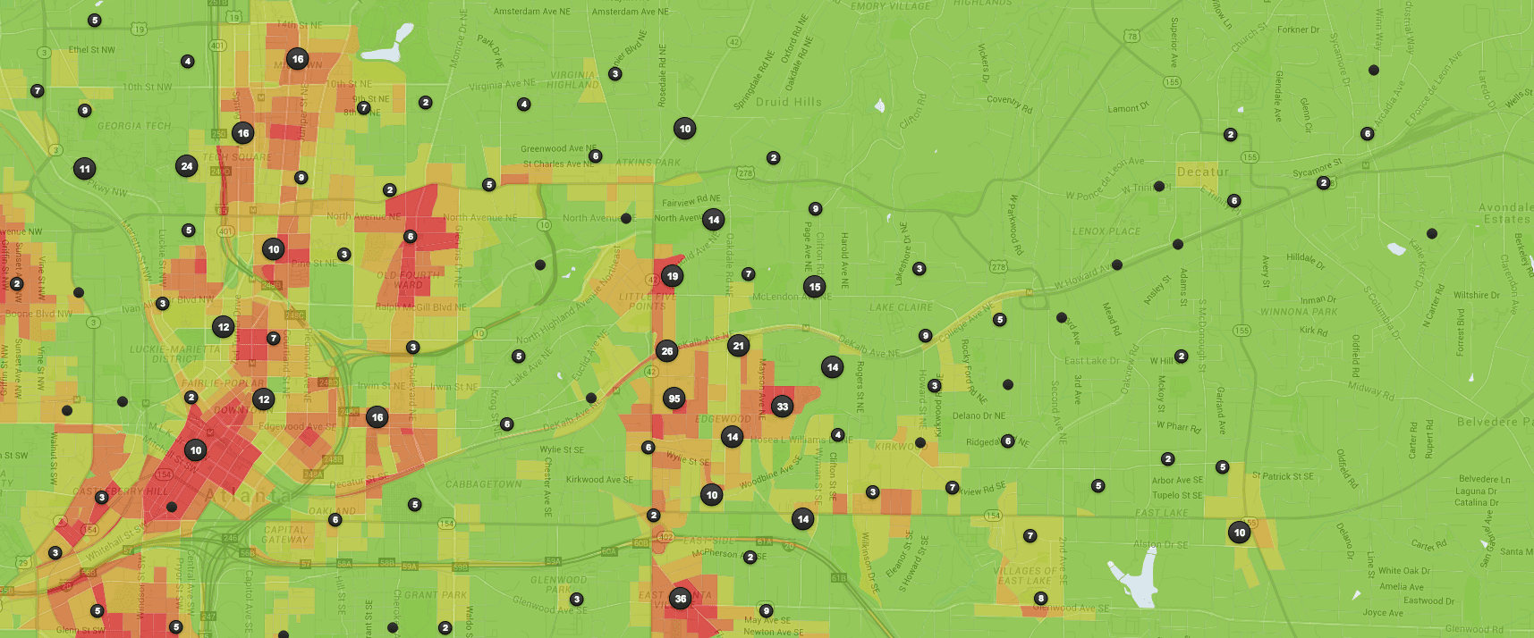 The Safest Neighborhoods in Atlanta