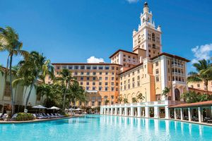 the Biltmore Hotel Miami taken from the pool