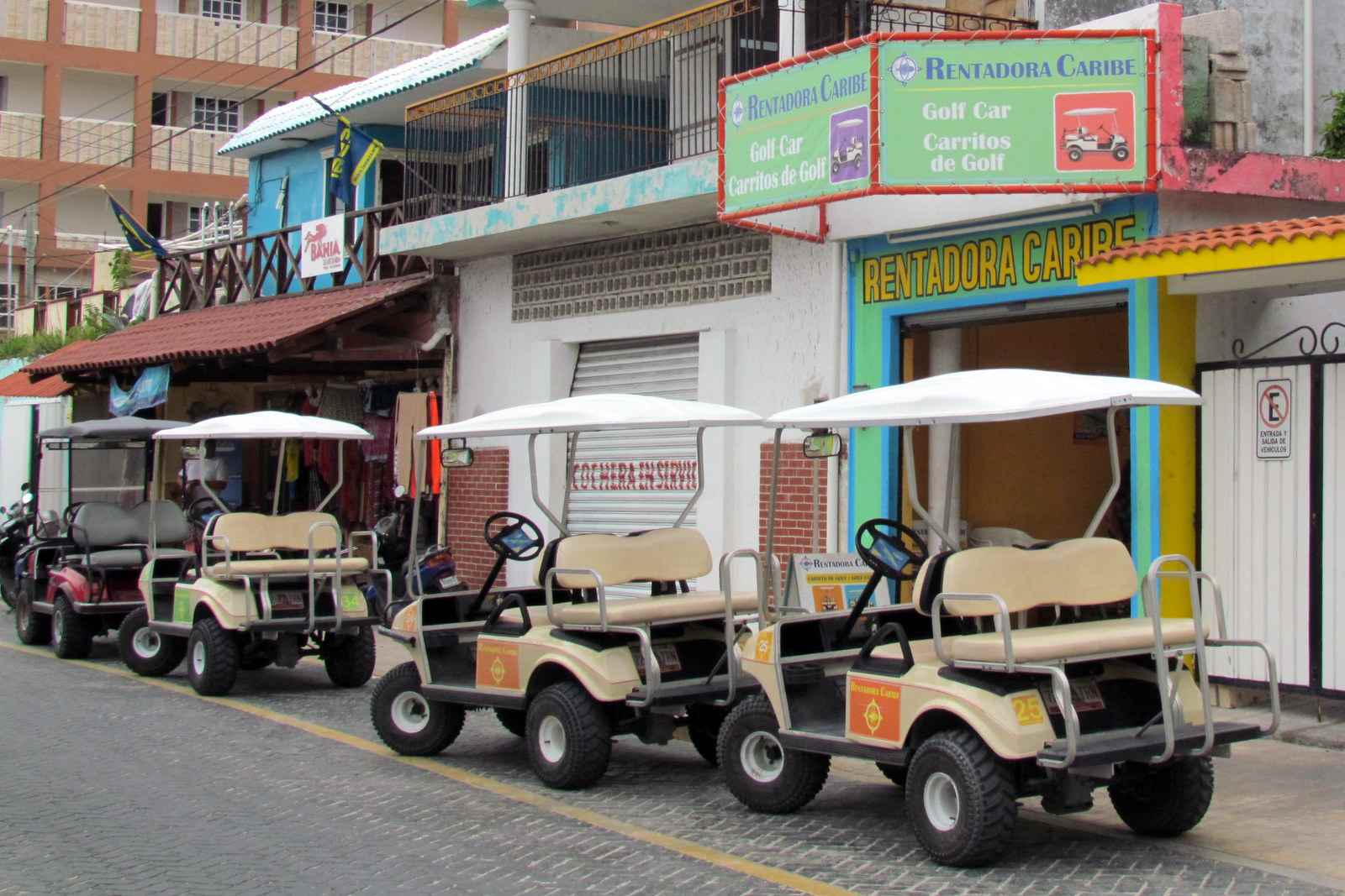 Rent a golf cart on Isla Mujeres