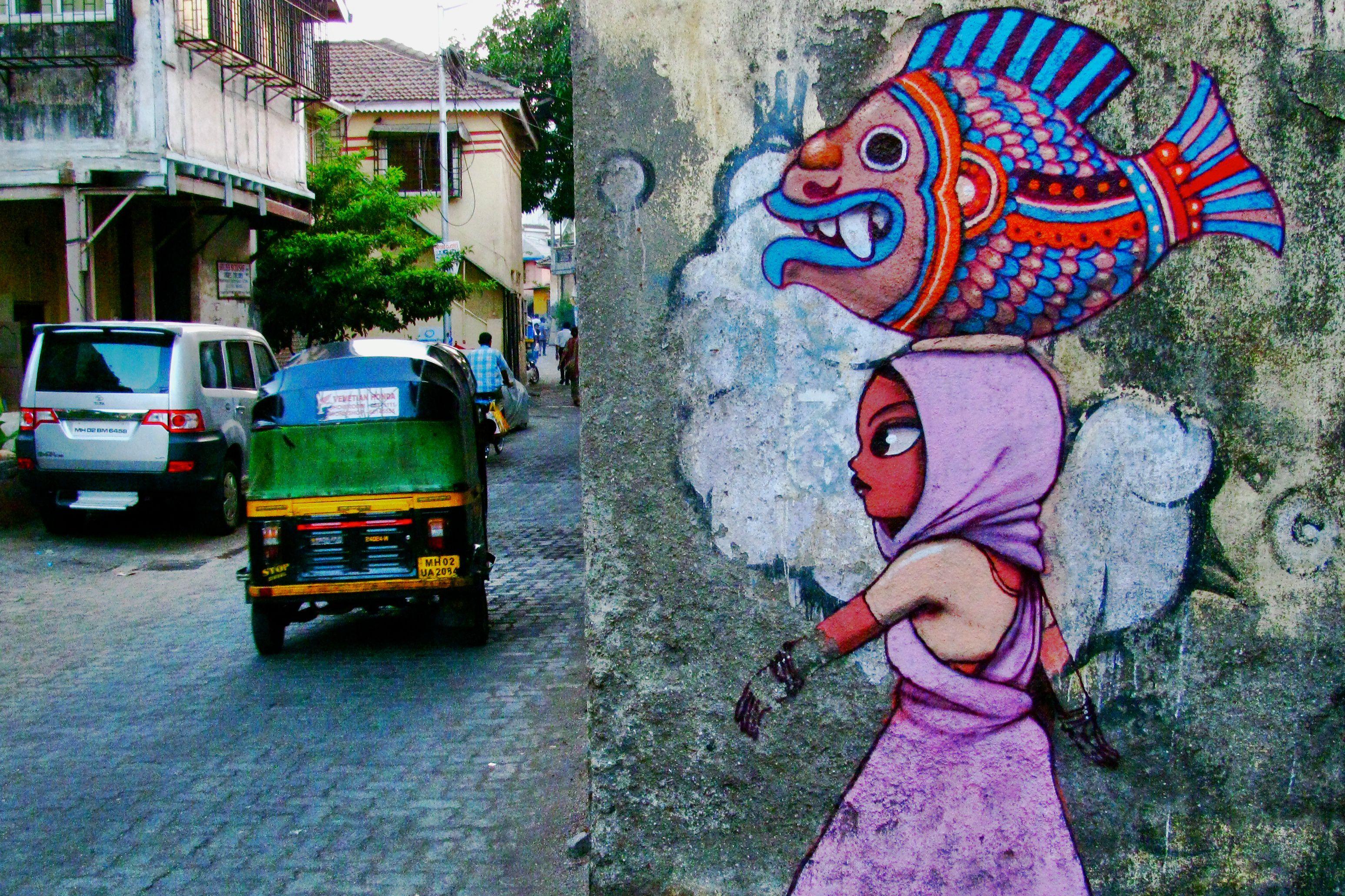 Street art in Bandra West.