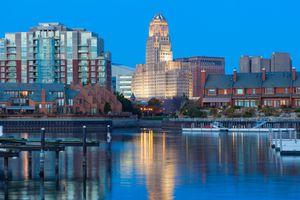 Buffalo, NY at night