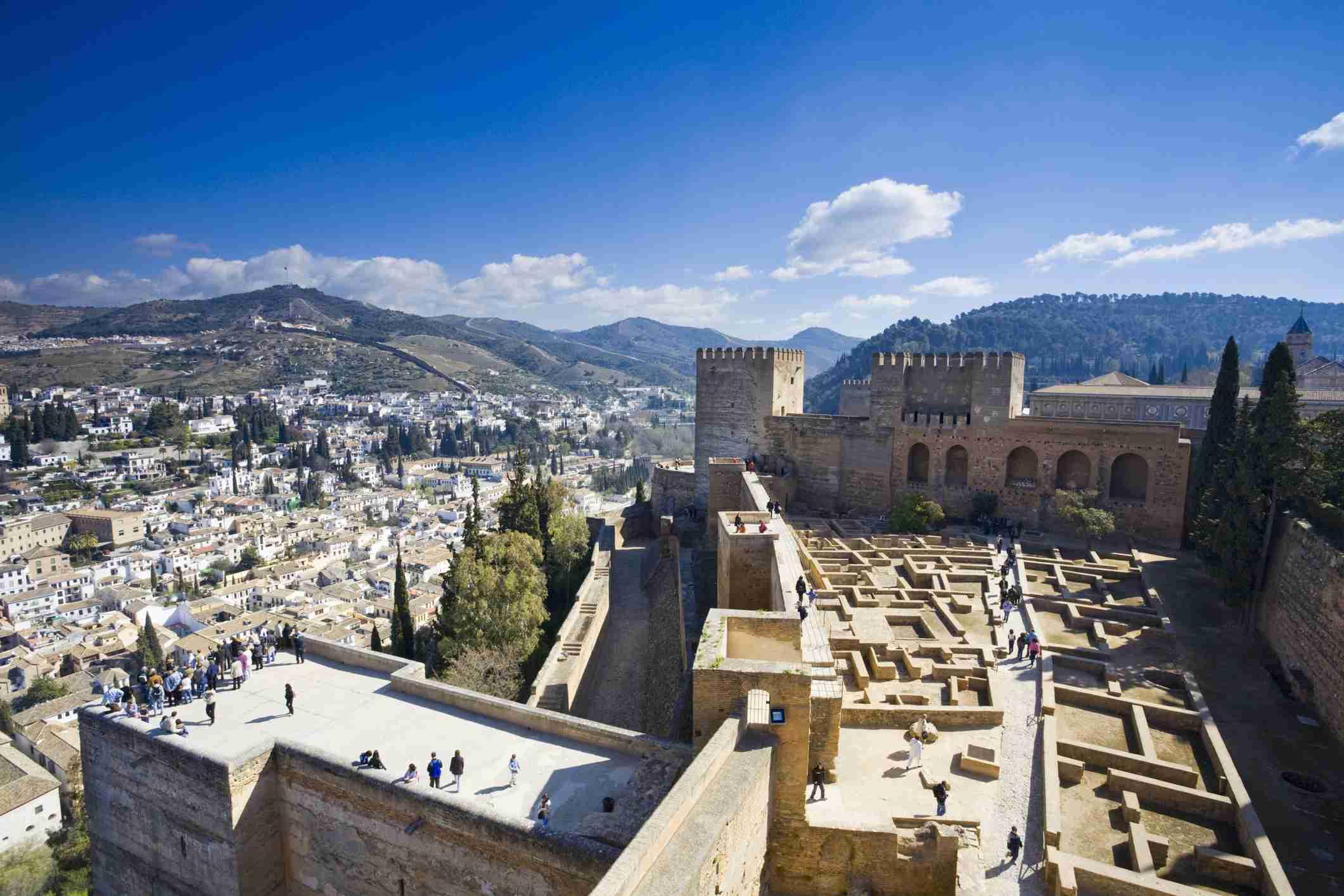 Granada, View over Alhambra