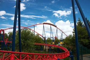 Superman coaster at Six Flags New England