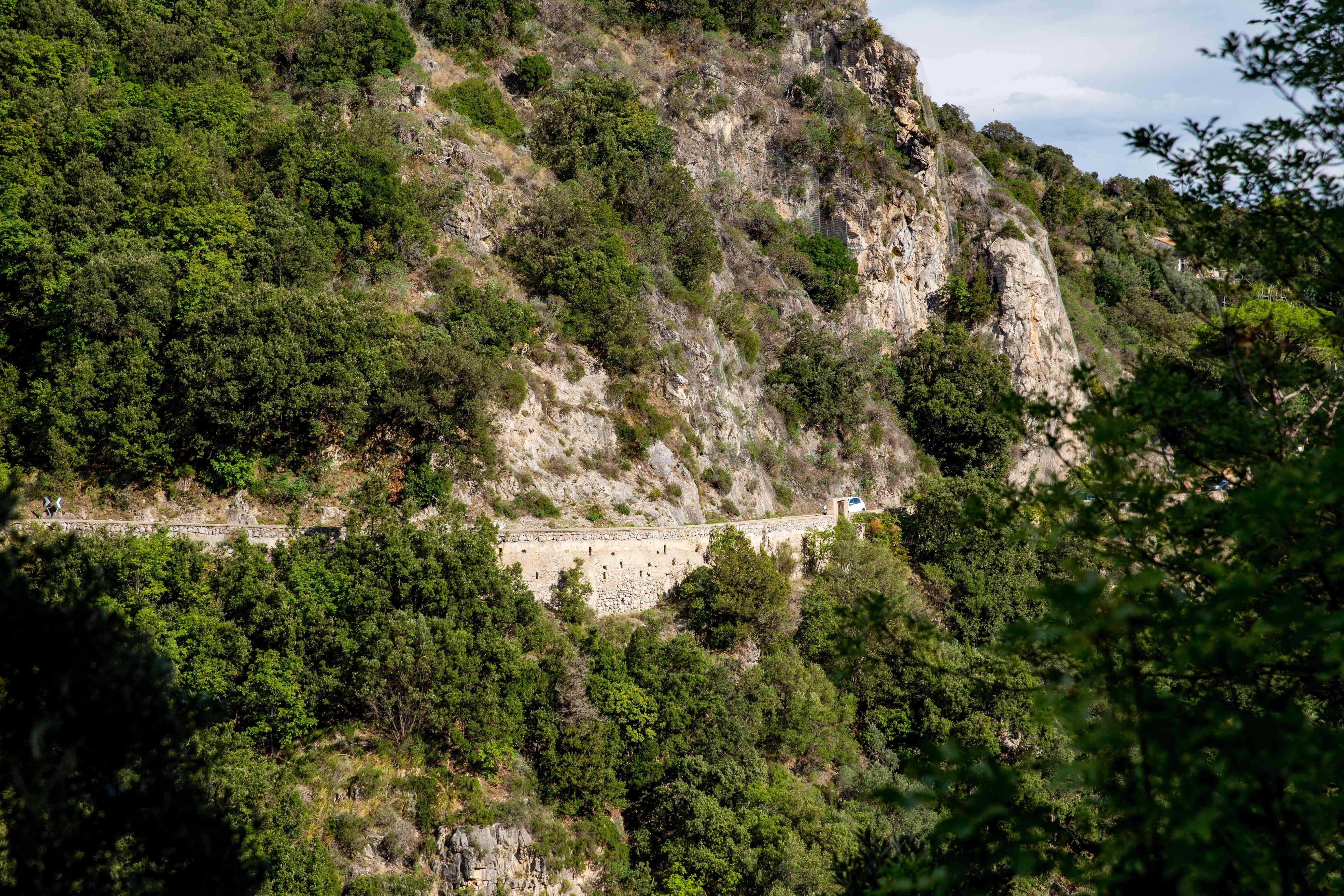 Amalfi Coast Road in Italy