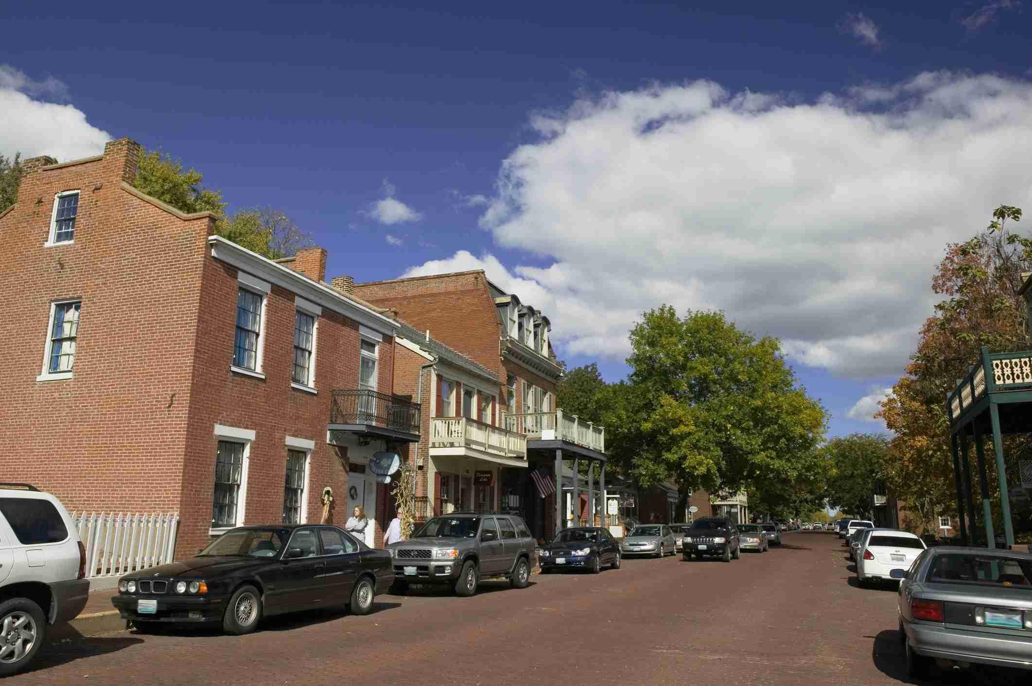 Street in St. Charles, Missouri