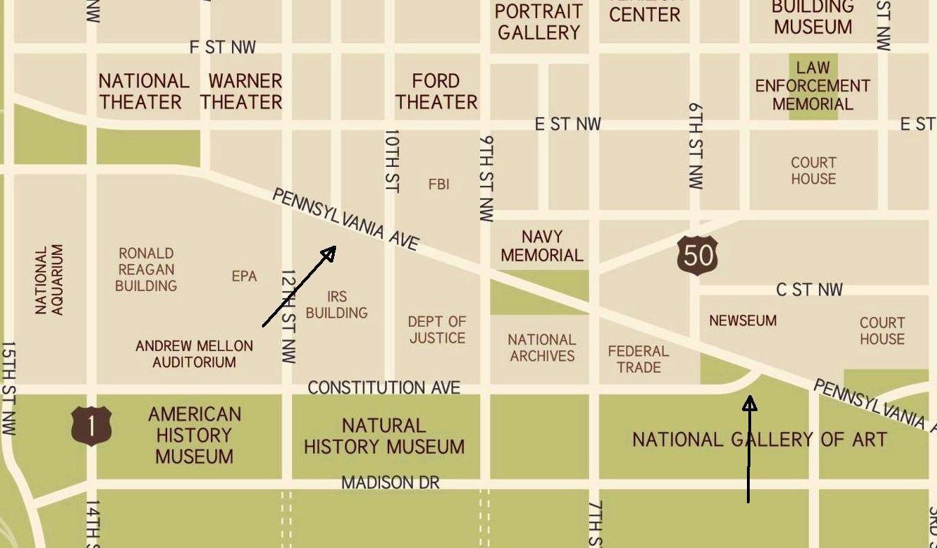 Pennsylvania Avenue in Washington, DC: Map & Directions on ne map of pennsylvania, state map of pennsylvania, usa map of pennsylvania, clear map of pennsylvania,